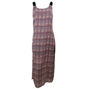 NWT NY COLLECTION Red Black Maxi Dress Size MP